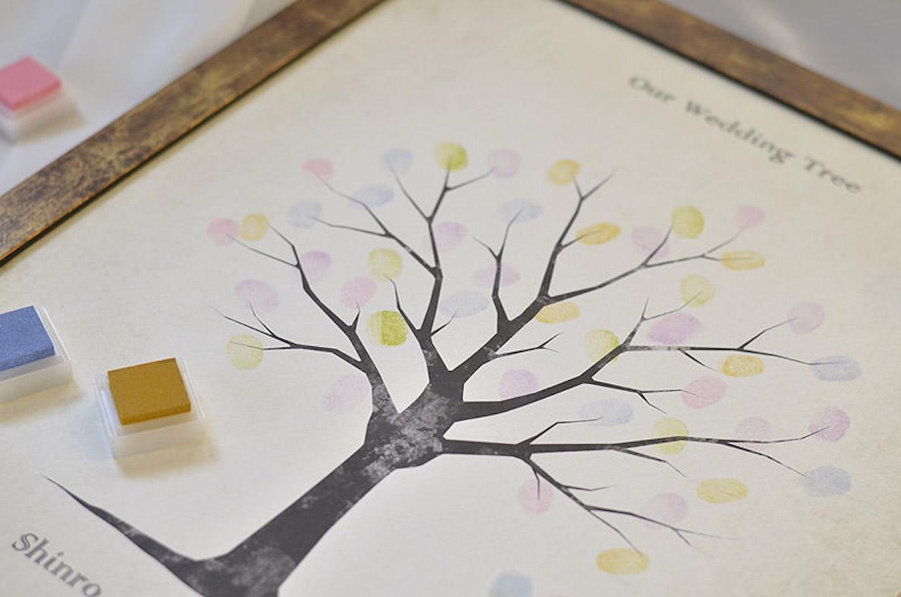 ウェディングツリーの押印イメージ