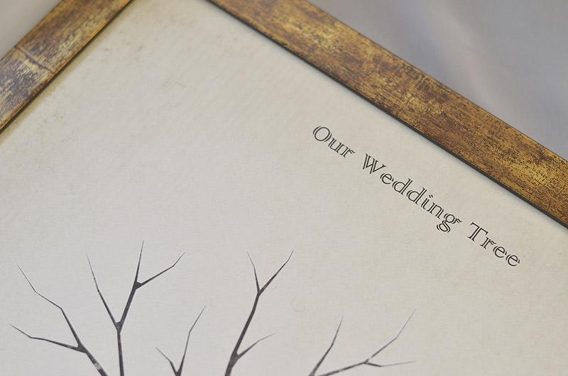 ウェディングツリーの印字