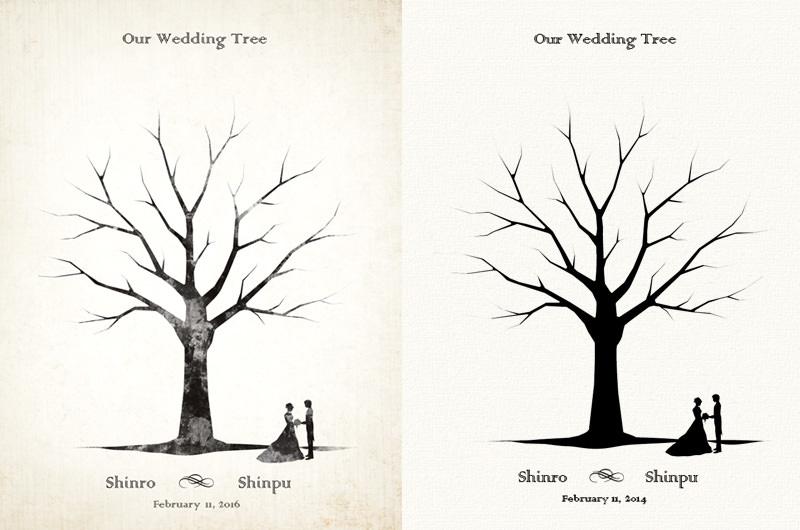 ウェディングツリーの用紙