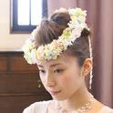 アートフラワー(造花)のヘッドドレス