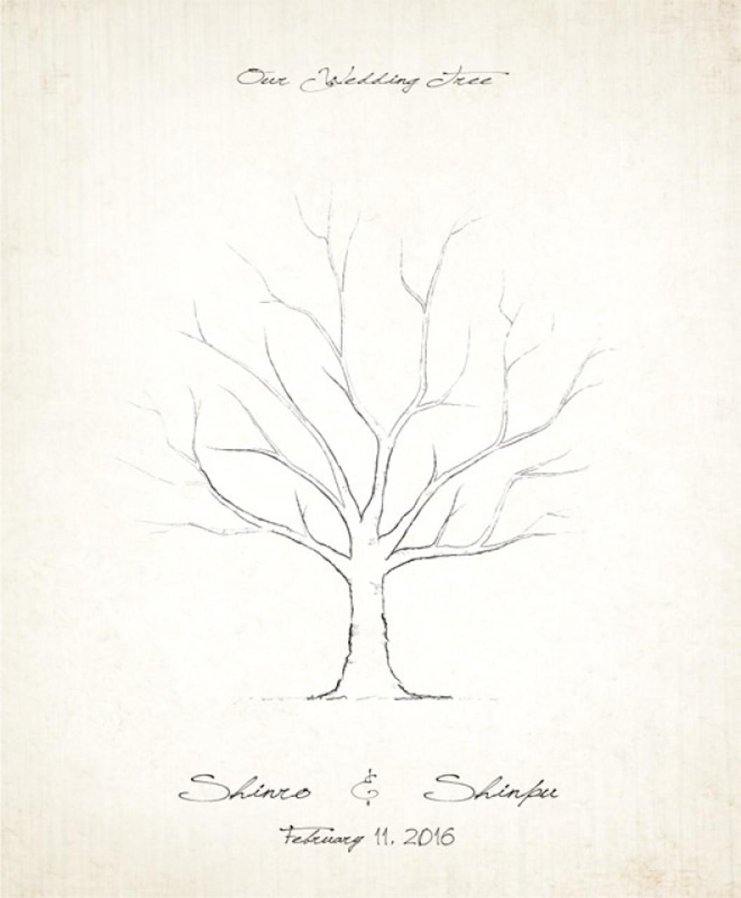 ウェディングツリーのイラスト