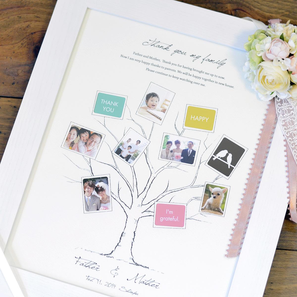 ファミリーツリー・結婚式のご両親へのプレゼント