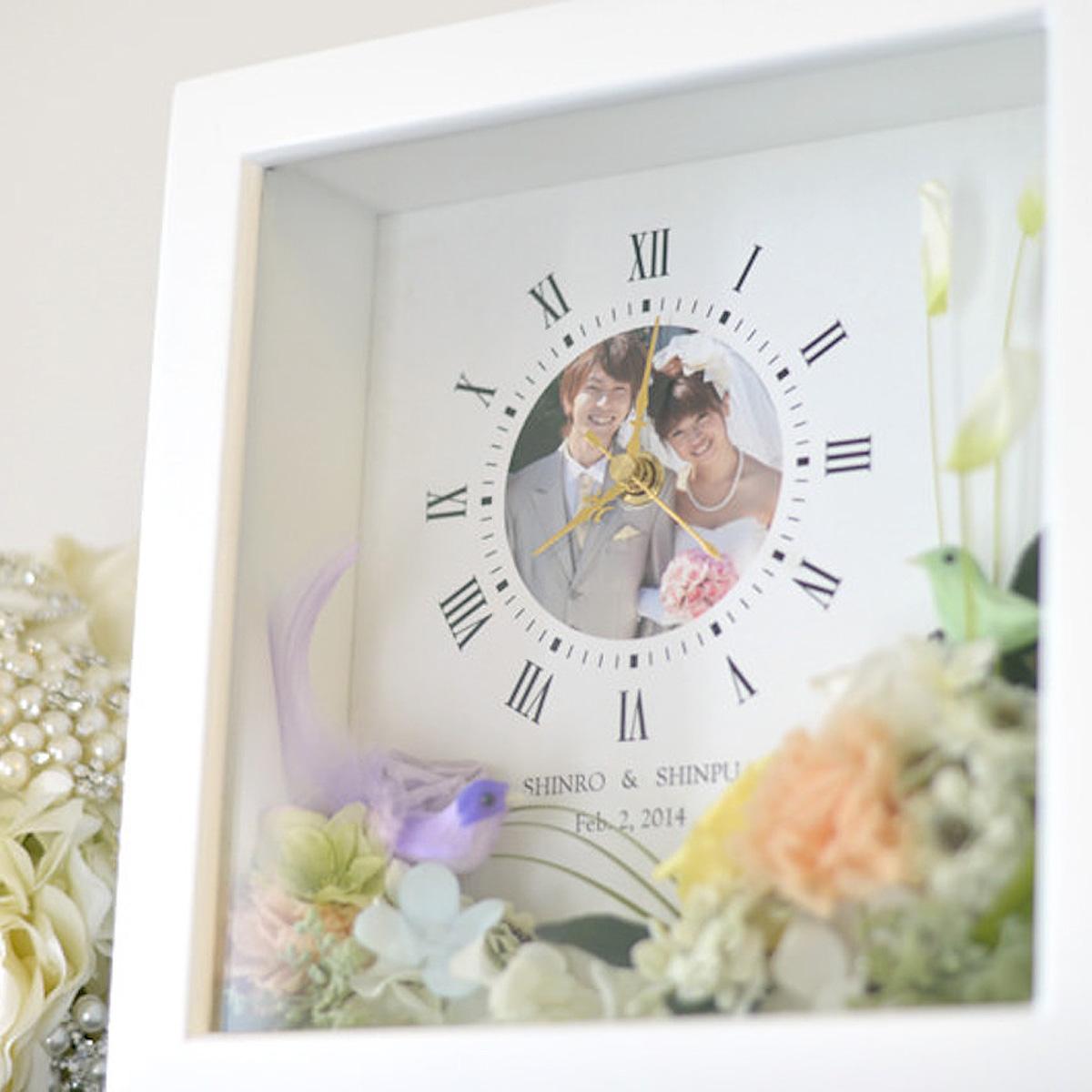結婚式のご両親へのプレゼント♪両親贈呈ギフト花時計