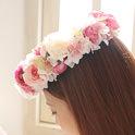 アートフラワー(造花)のヘッドドレス・花冠