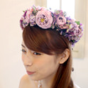 エレガントで 雅やかなパープルカラーの花冠