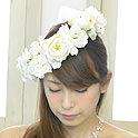 大輪のイングリッシュローズのクラシカルな花冠