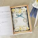 リングピローと結婚誓約書がひとつに♪ ブックボックスのリングピロー