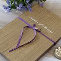 木製ブック型の結婚誓約書とウェディングツリー
