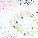 ウエディングツリー用紙と シール6色セット - 説明文付き(キャンペーン商品)